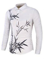 Bamboo Printed Long Sleeve Shirt