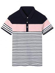 Color Block Stripe Polo Shirt