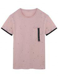 Paint Splatter Zip Pocket T-Shirt