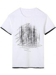 Abstract Print Short Sleeve T-Shirt