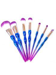 7Pcs Ombre Calabash Design Makeup Brushes Kit