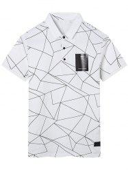 Geometric Print Polo Shirt