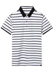 Contrast Stripe Polo Shirt