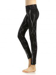 Breathable Print High Rise Yoga Leggings