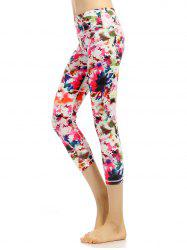 Colorful Pattern High Waist Cropped Gym Leggings