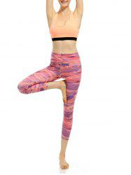 Elastic High Rise Funky Gym Leggings