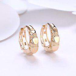Metal Circle Vintage Hoop Earrings -
