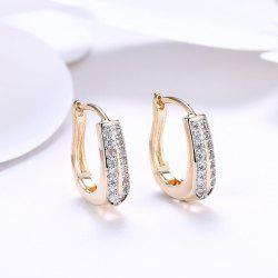 Rhinestone Alloy Horseshoe Hoop Earrings