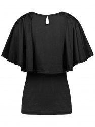 Tiers Layer Cape Flounce T-Shirt