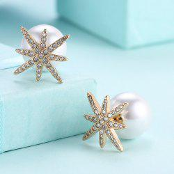 Faux Pearl Rhinestone Eight Star Ear Jackets
