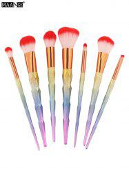 Unicorn Conical Rainbow Makeup Brushes Kit