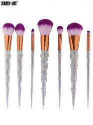 MAANGE 7Pcs Shimmer Unicorn Horn Makeup Brushes Set