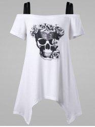 Plus Size Skull Off The Shoulder T-Shirt