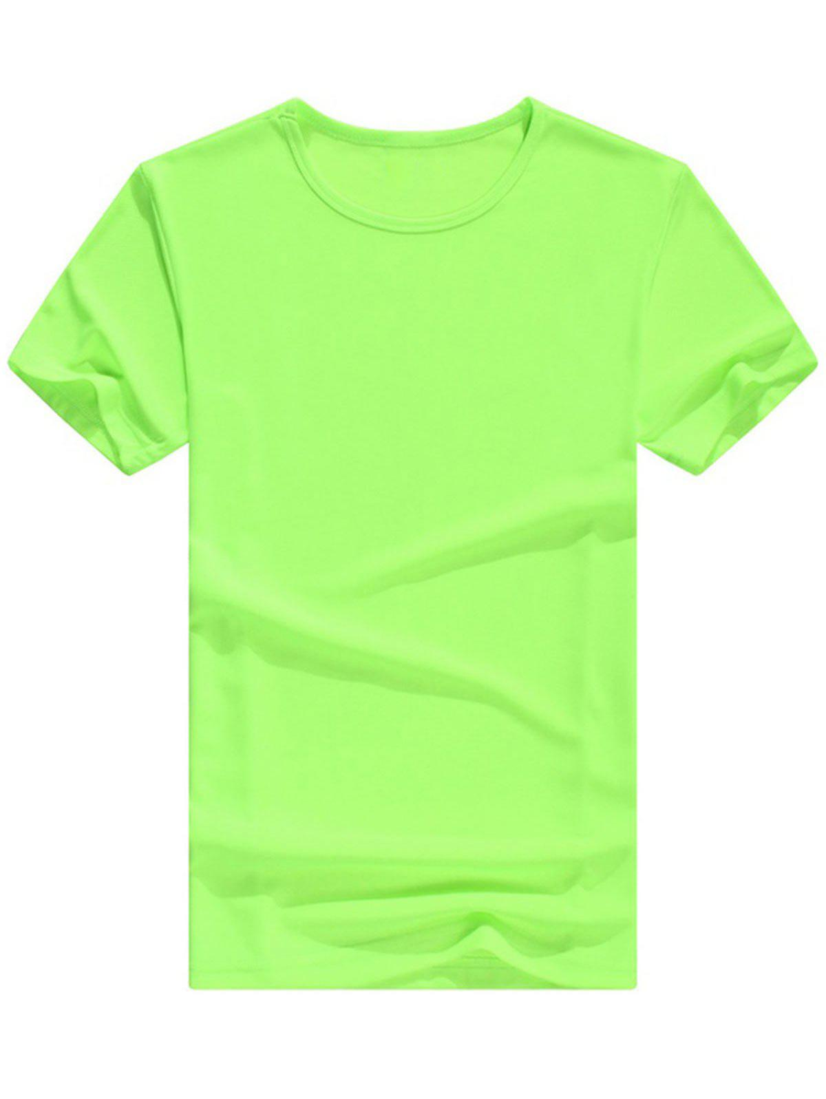 Affordable Crew Neck Basic Short Sleeve T-Shirt