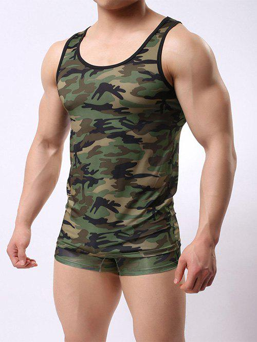 Store Muscle Camo Tank Top and Boxer Briefs