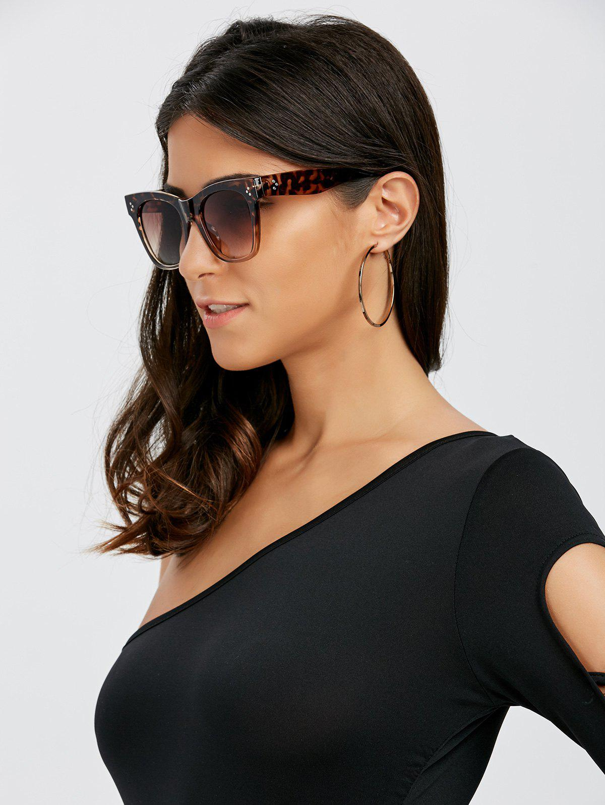 Online UV Protection Ombre Wide Sunglasses