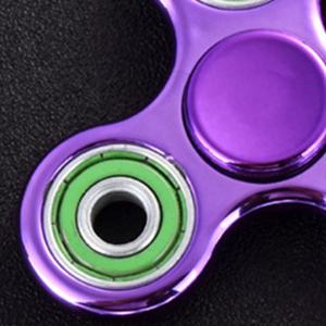 Triangle Finger Gyro Fidget Spinner Stress Relief Toy - PURPLE