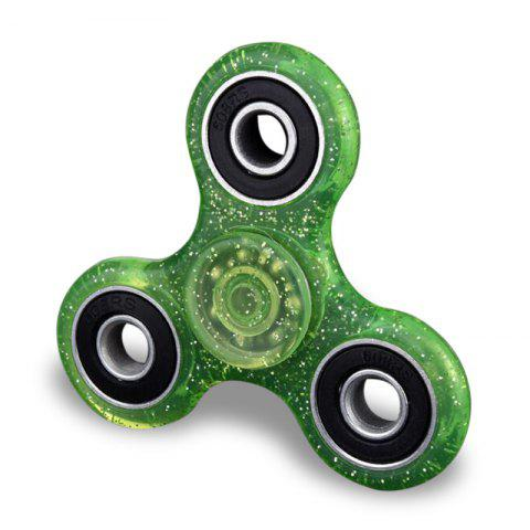 Chic Plastic Focus Toy EDC Finger Gyro Stress Relief Fidget Spinner GREEN