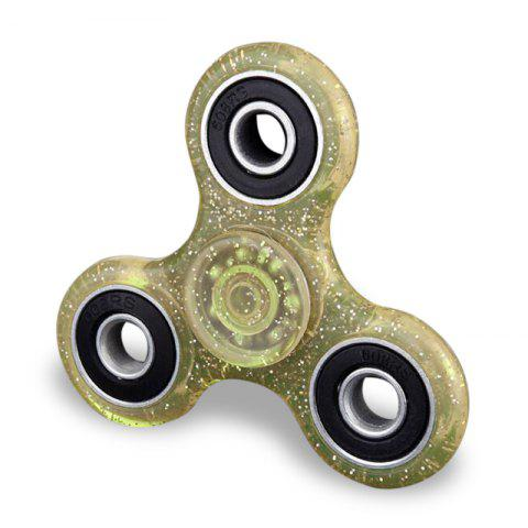 Buy Plastic Focus Toy EDC Finger Gyro Stress Relief Fidget Spinner YELLOW