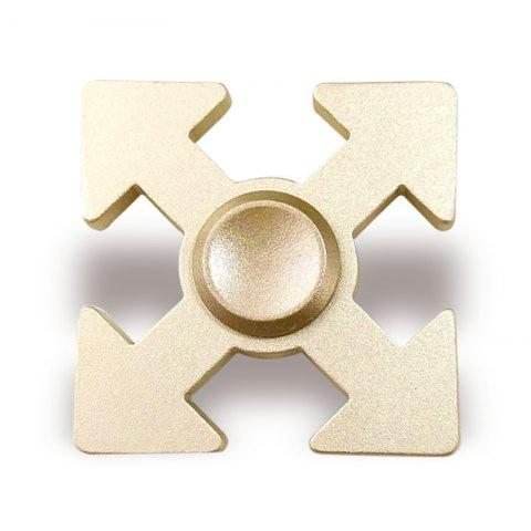 New Arrows Shaped Hand Plaything EDC Fidget Spinner GOLDEN 5*5*1.3CM