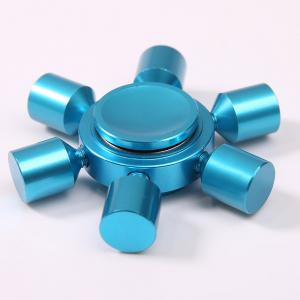 Stress Relief Focus Toy Rudder Fidget Metal Spinner - BLUE