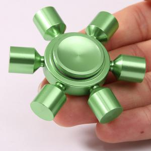Stress Relief Focus Toy Rudder Fidget Metal Spinner - GREEN