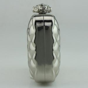 Bowknot Metallic Geometric Evening Bag - SILVER