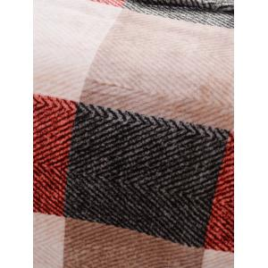 Plaid Print Super Soft Sofa Nap Literie Throw Blanket - Multicouleur Complet