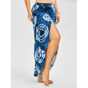 Plus Size Tribal Print Tie Dye Palazzo Slit Pants