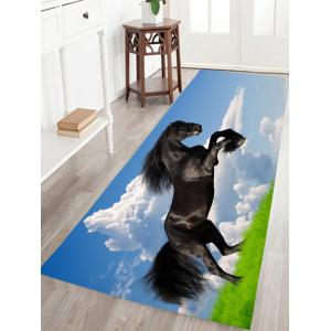 Fine Horse Print Antiskid Flannel Animal Bathroom Rug