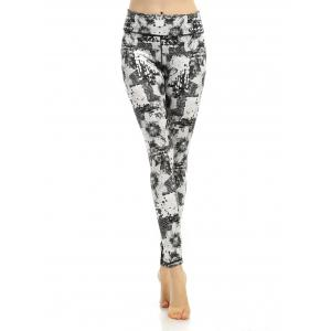Patterned Active High Waisted Leggings