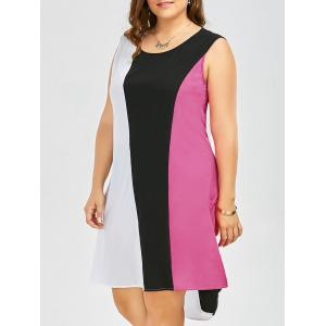 Sleeveless Contrast High Low Dress