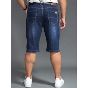Shorts denim taille grand taille PU - Denim Bleu 44