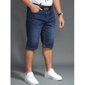 Shorts denim taille grand taille PU -