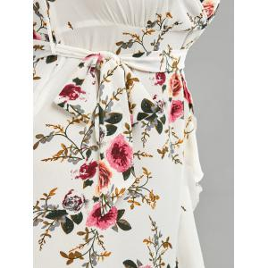 Plus Size High Low Long Floral Dress -