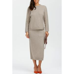 Wool Sweater With Long Skirt