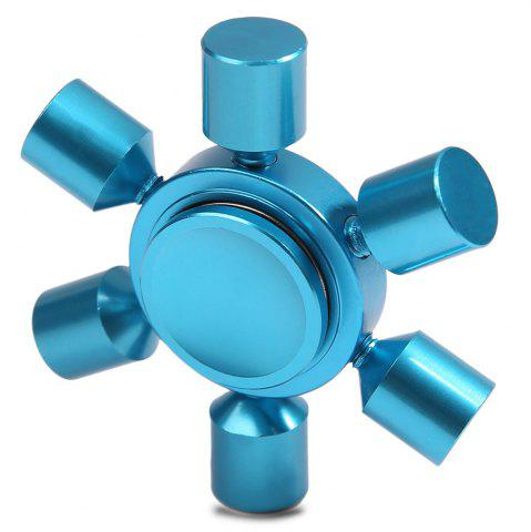 Cheap Stress Relief Focus Toy Rudder Fidget Metal Spinner BLUE