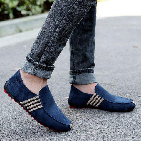 Striped Slip On Casual Shoes - Cerulean - 42