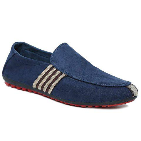 Trendy Striped Slip On Casual Shoes - 40 CERULEAN Mobile