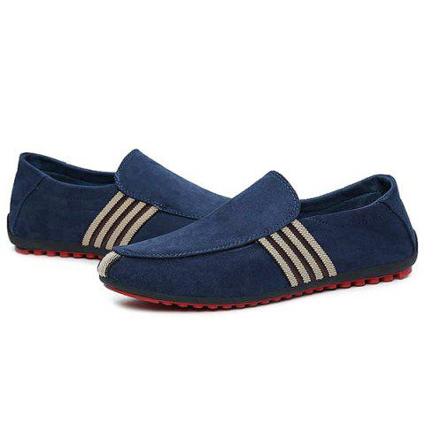 Online Striped Slip On Casual Shoes - 40 CERULEAN Mobile