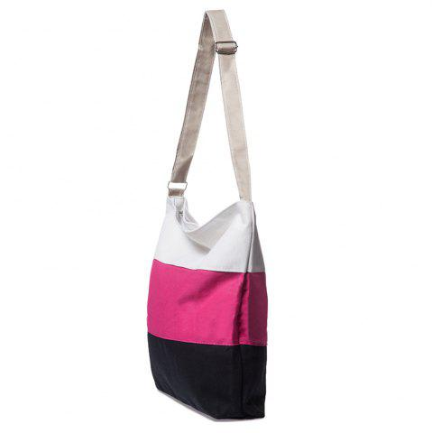 Outfits Stripes Canvas Bag - ROSE  Mobile