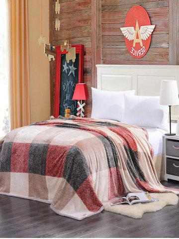 Plaid Print Super Soft Sofa Nap Literie Throw Blanket Multicouleur Complet