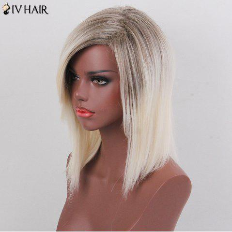 Discount Siv Hair Colormix Medium Side Bang Silky Straight Bob Human Hair Wig - COLORMIX  Mobile