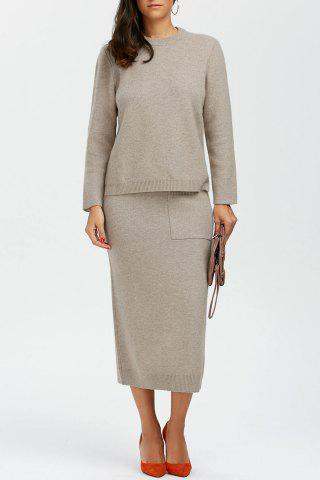 Fashion Wool Sweater With Long Skirt