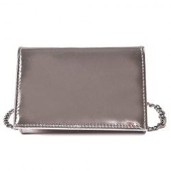 Flap Chain Metallic Crossbody Bag