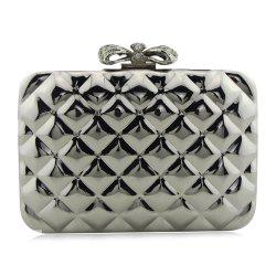Bowknot Metallic Geometric Evening Bag
