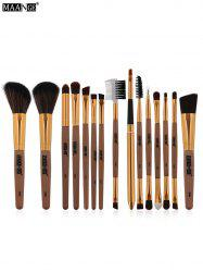MAANGE 15Pcs Fiber Multipurpose Makeup Brushes Kit