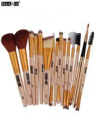 MAANGE 15Pcs Fiber Multipurpose Makeup Brushes Kit - COMPLEXION