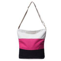 Stripes Canvas Bag - ROSE