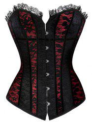 Lace Up Steel Boned Strapless Corset Top - DEEP RED S